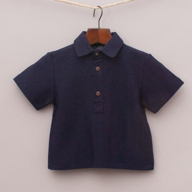 "Chalk N Cheese Navy Blue Polo Shirt ""Brand New"""