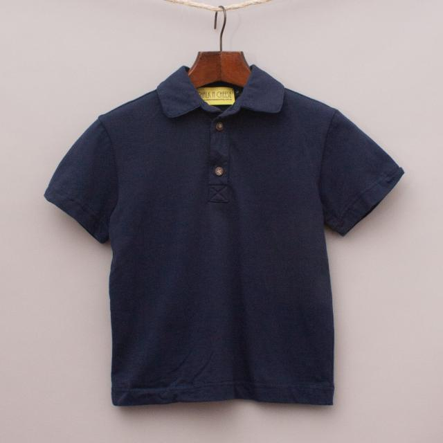 Chalk N Cheese Navy Blue Polo Shirt