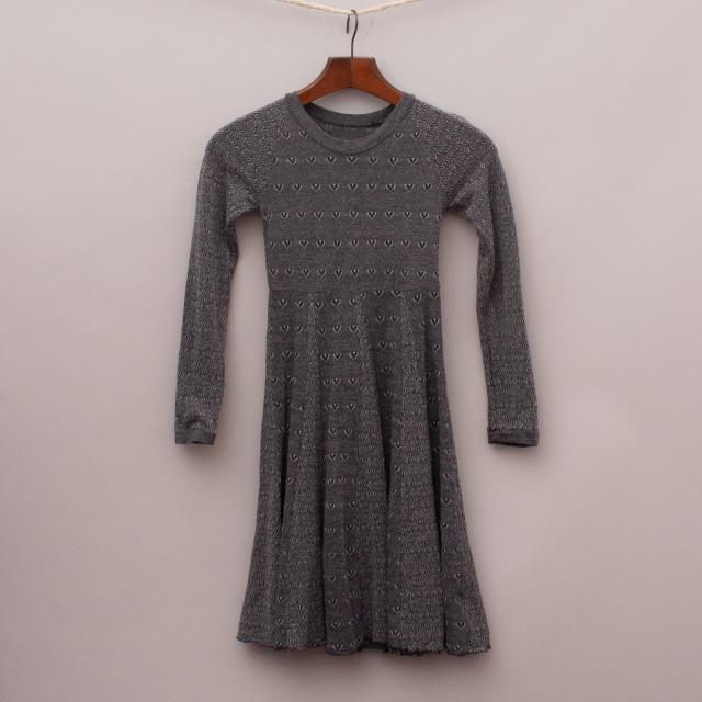 Mini Metalicus Stretch Heart Dress