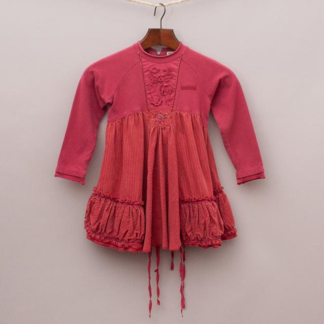 Elaine et Luna Corduroy Dress