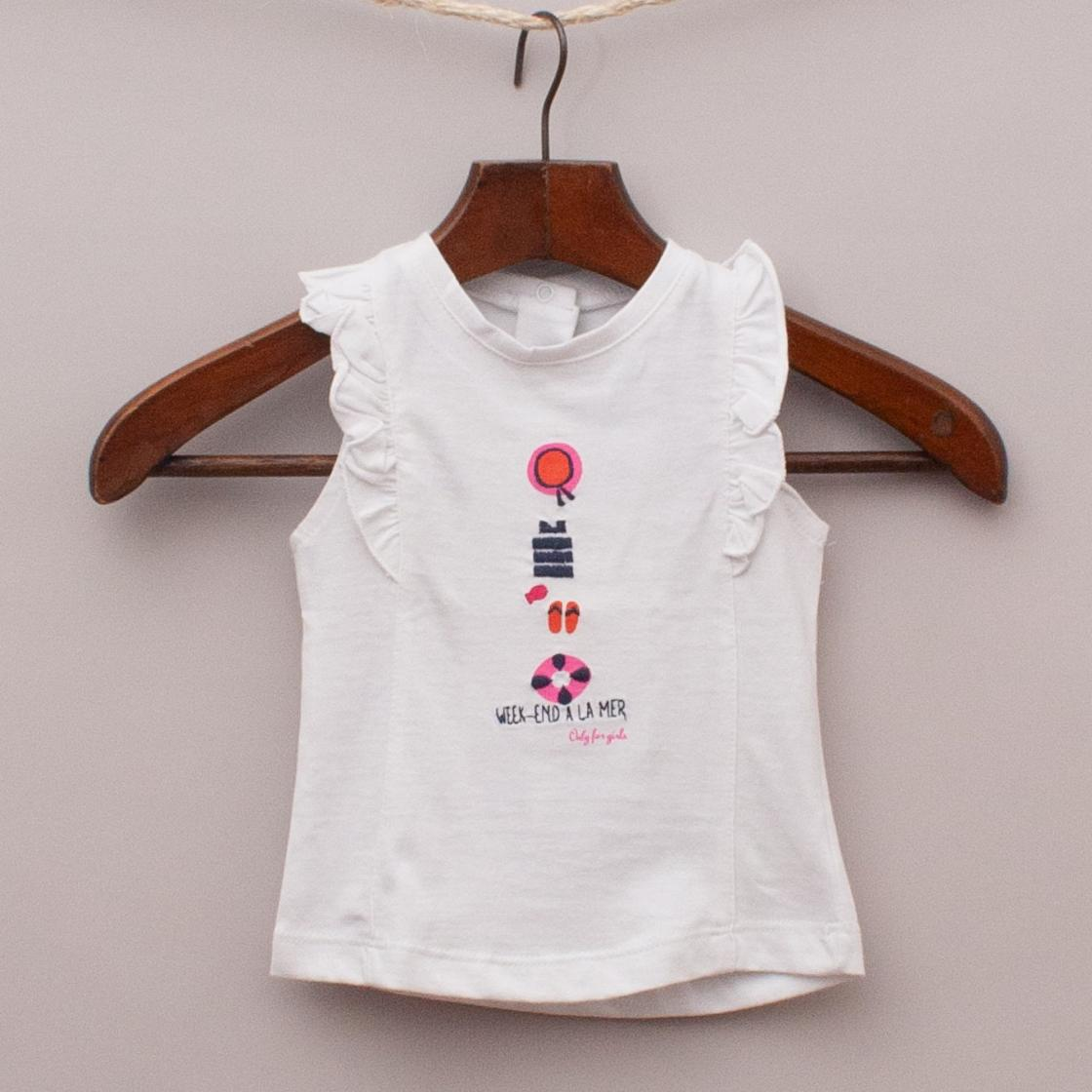 """Week-End a la Mer Embroidered Top """"Brand New"""""""