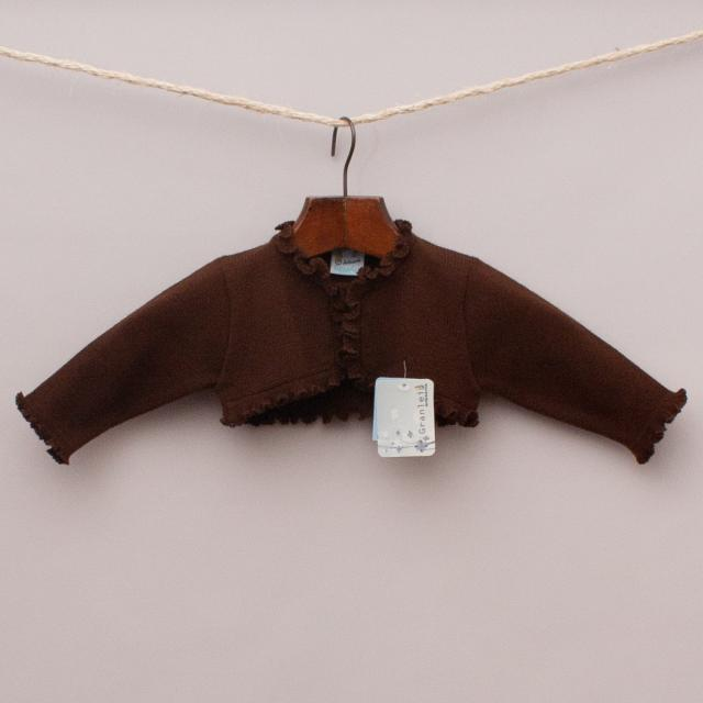 "Granlei Brown Cropped Cardigan ""Brand New"""