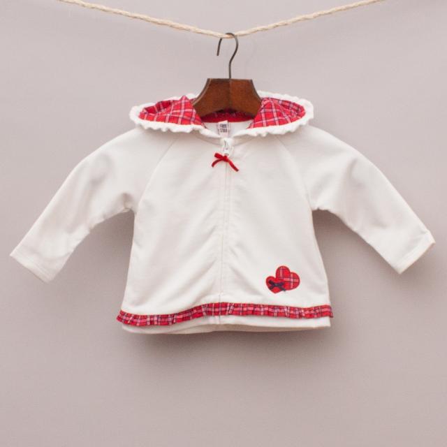 Free Style Baby Tartan Hooded Jumper