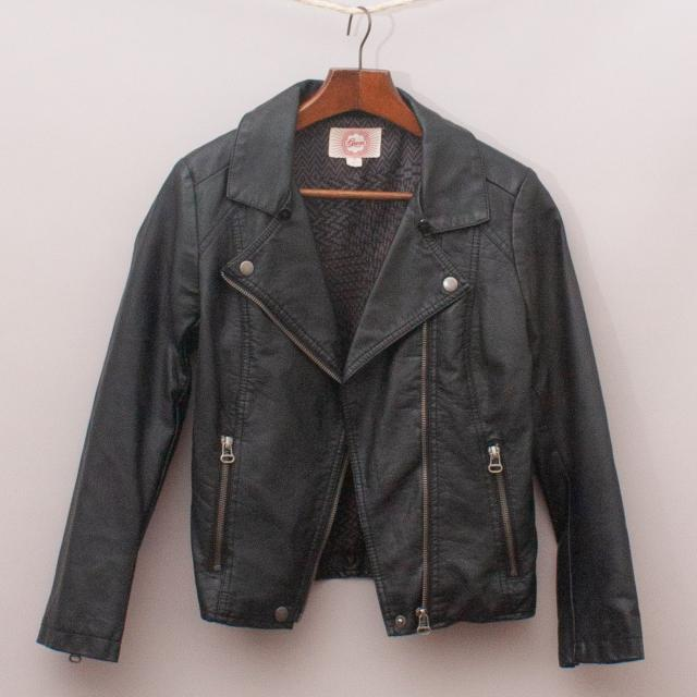 Gumboots Faux Leather Jacket
