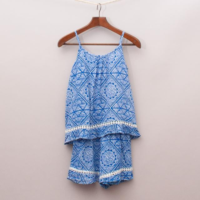 Seed Patterned Romper