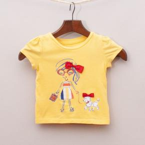 Gap Yellow Bow T-Shirt