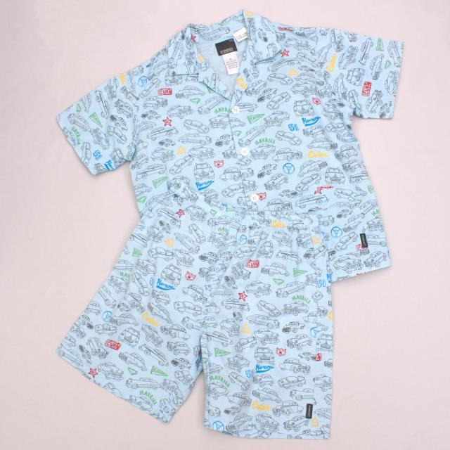 Fred Bare Car Patterned Pyjamas
