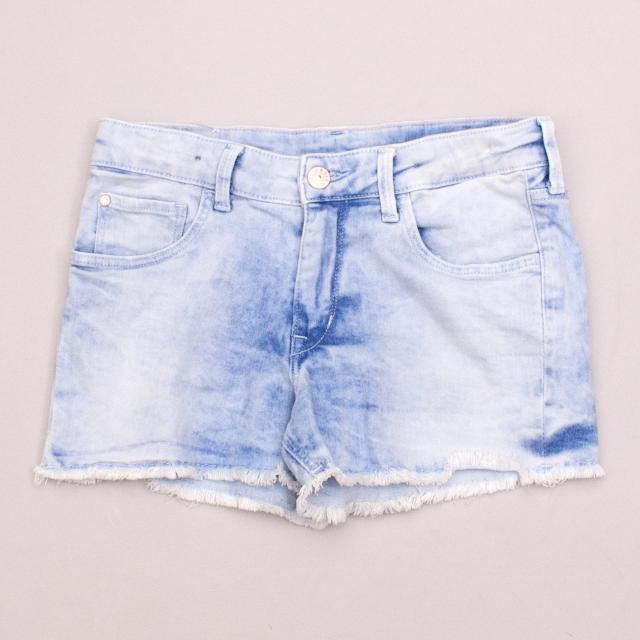 &Denim Distressed Shorts