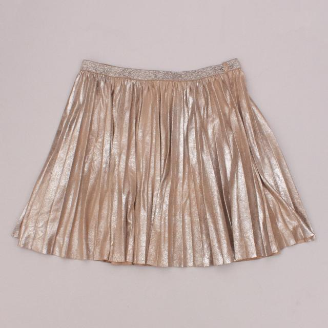 Witchery Metallic Pleated Skirt