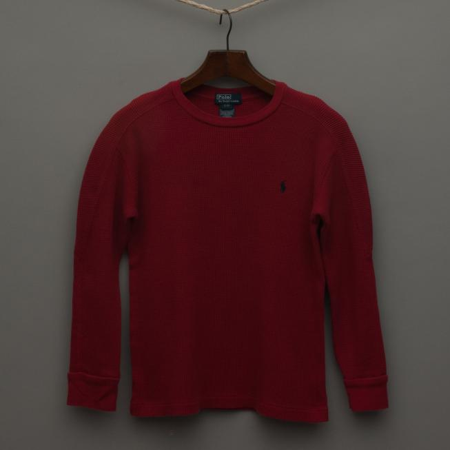 Red Waffle Jumper