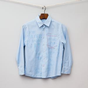 Light Blue Pin Stripe Shirt