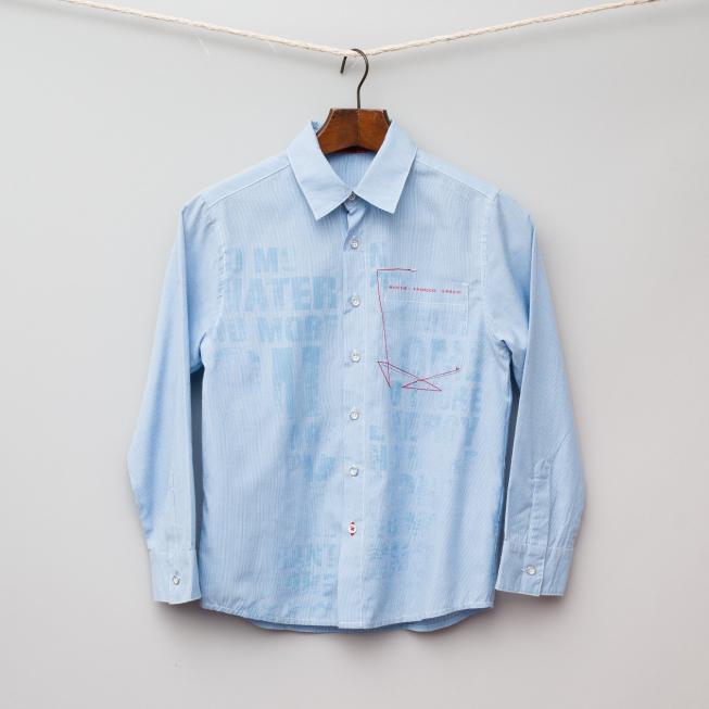 Light Blue Pin Stripe Shirt