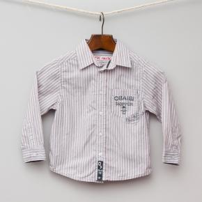 Grey and Red Stripe Shirt