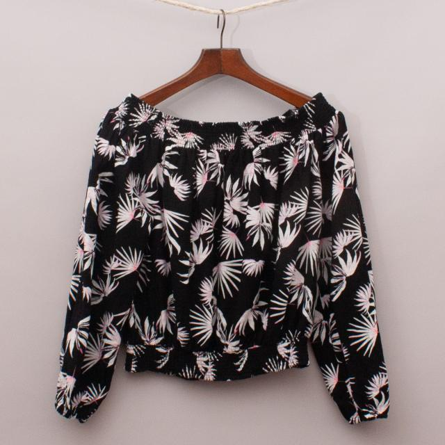 Decjuba Palm Print Top