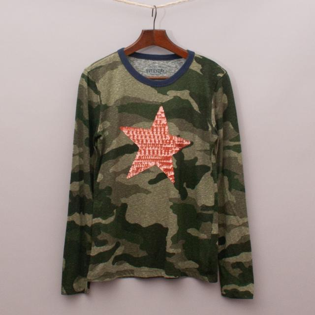 J Crew Camo Long Sleeve