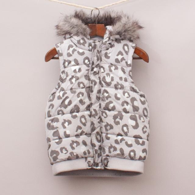 Seed Metallic Leopard Vest