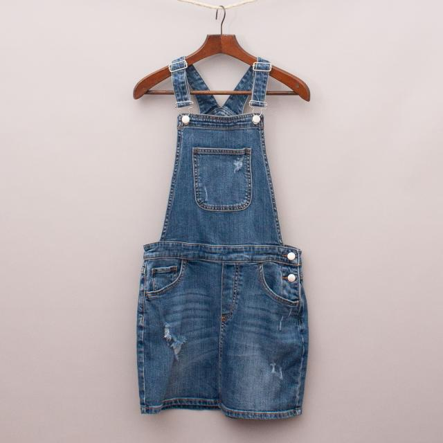 Decjuba Denim Overall Dress