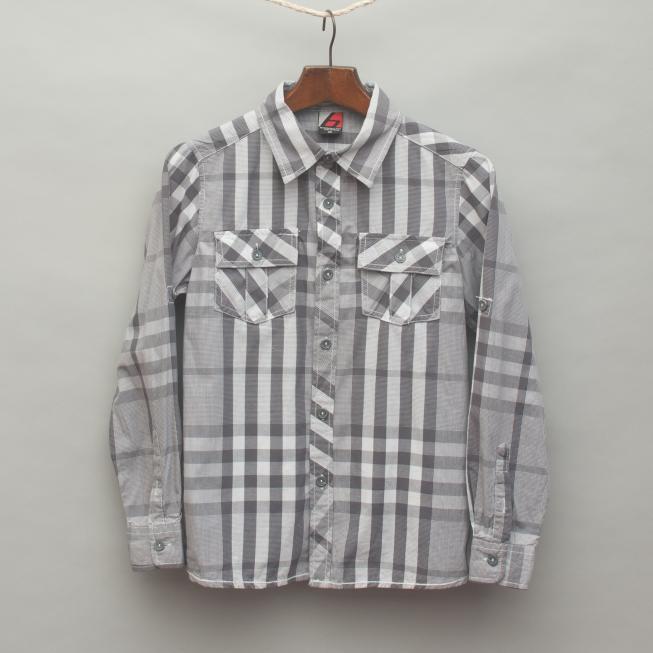 Grey Toned Plaid Shirt