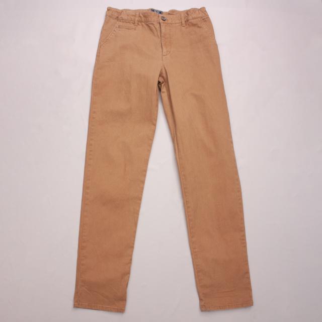 H&M Brown Straight Leg Pants
