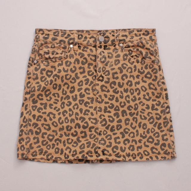 Seed Leopard Skirt