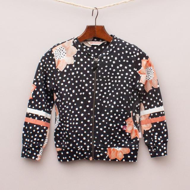 Munster Spot & Flower Pattern Bomber Jumper