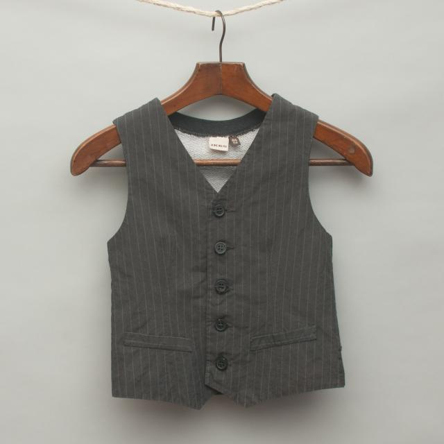 Grey Pin Stripe Vest