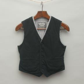 Navy Blue and Striped Vest