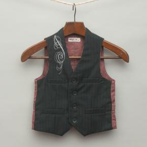 Navy Blue Pin Stripe Vest