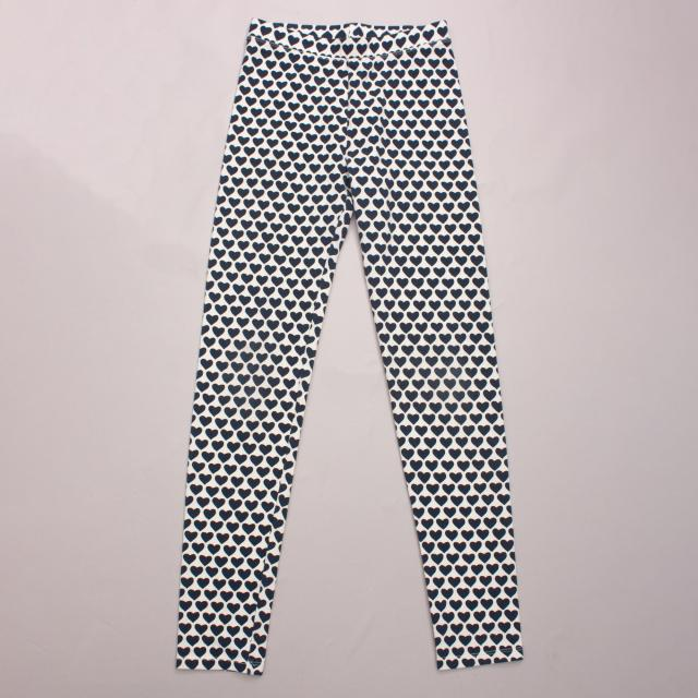 J Crew Heart Leggings