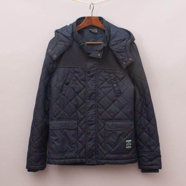 Mossimo Navy Quilted Jacket
