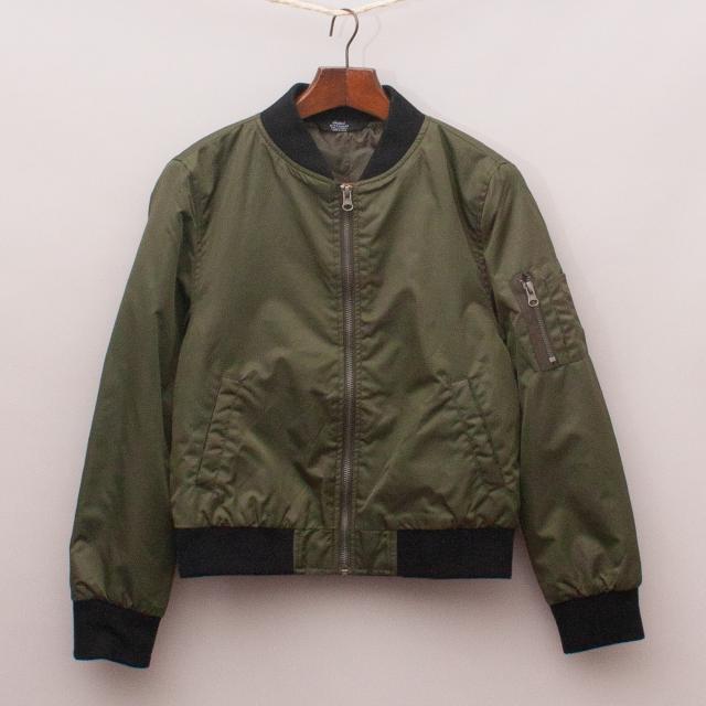 Rebel Green Bomber Jacket