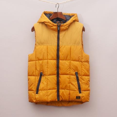 Zara Mustard Padded Vest