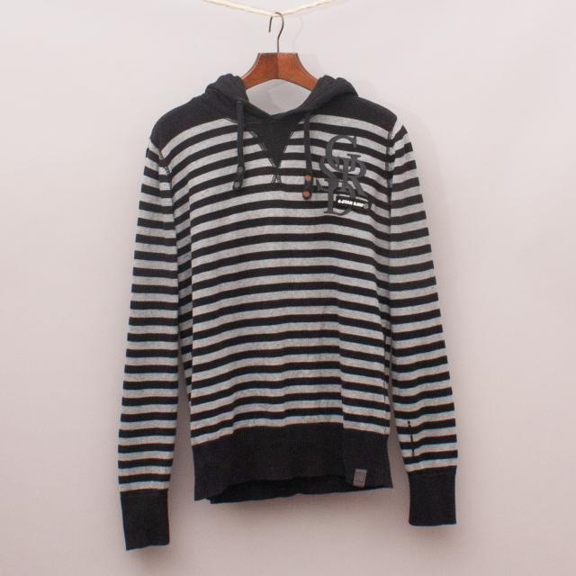 G-Star Striped Hooded Jumper