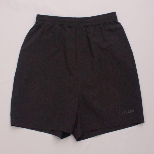 Jagged Black Sports Shorts