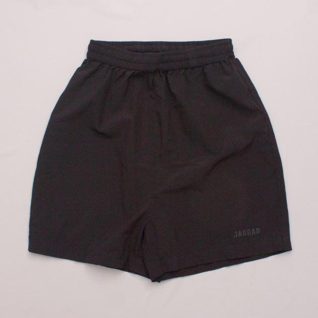 Jagged Black Sports Shorts