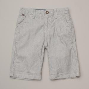 Light Grey Marle Pin Stripe Shorts