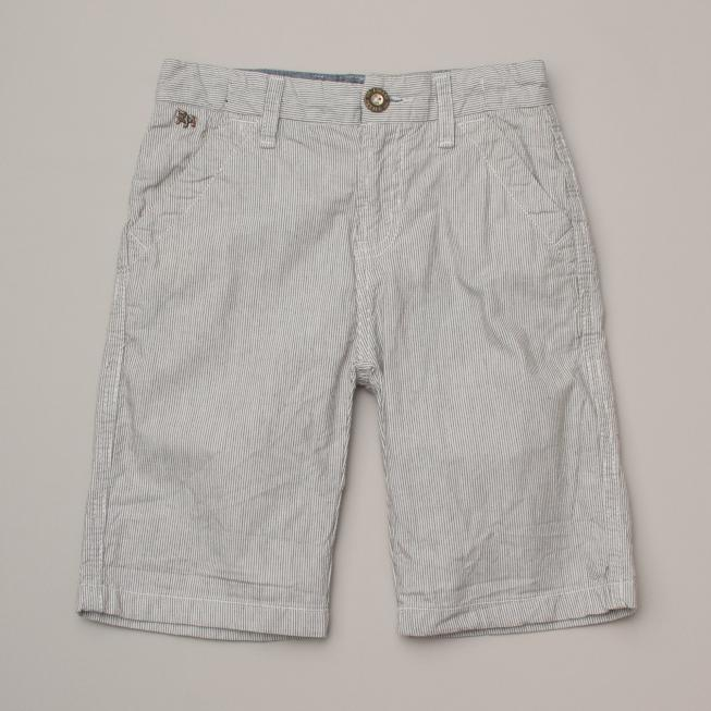 Light Grey Marle Pin Stripe Shorts