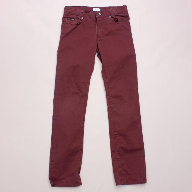 Hugo Boss Burgundy Jeans