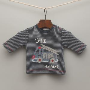 Striped Fire Engine Long Sleeve Top