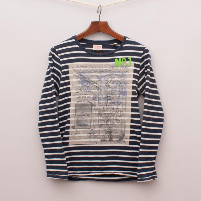 Scotch Shrunk Striped Long Sleeve