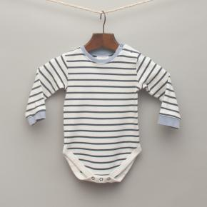 Navy Blue and White Stripe Legless Romper