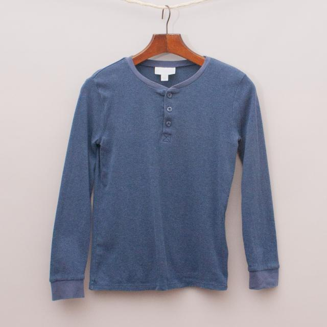 Little White Company Blue Long Sleeve