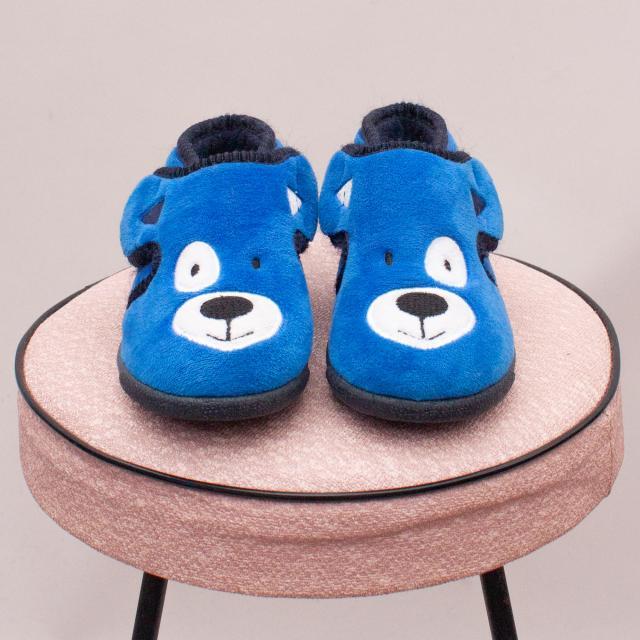Fuzzy Bear Slippers - UK 6
