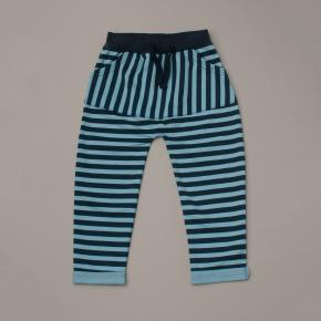 Navy Blue and Blue Stripe Pants
