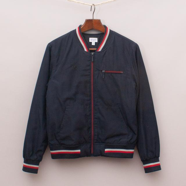 Witchery Navy Blue Bomber Jacket