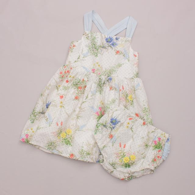 Tu Floral Dress & Matching Bloomers