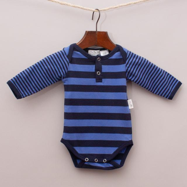 "Mini Fin Striped Romper ""Brand New"""