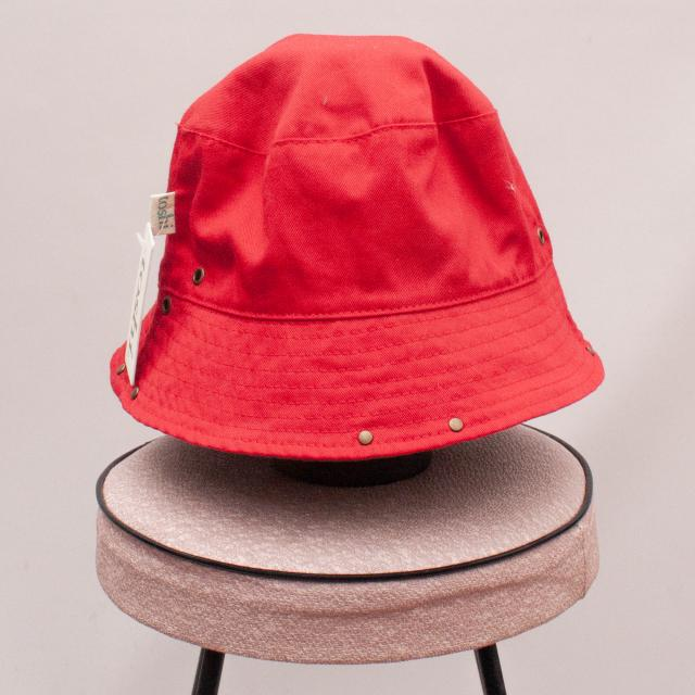 "Toshi Red Bucket Hat ""Brand New"" - L"