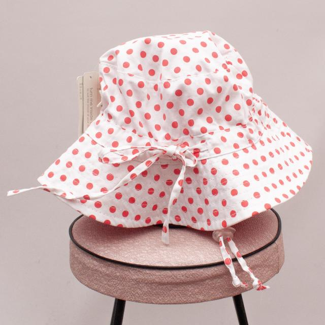 "Toshi Polka Dot Bucket Hat ""Brand New"" - L"