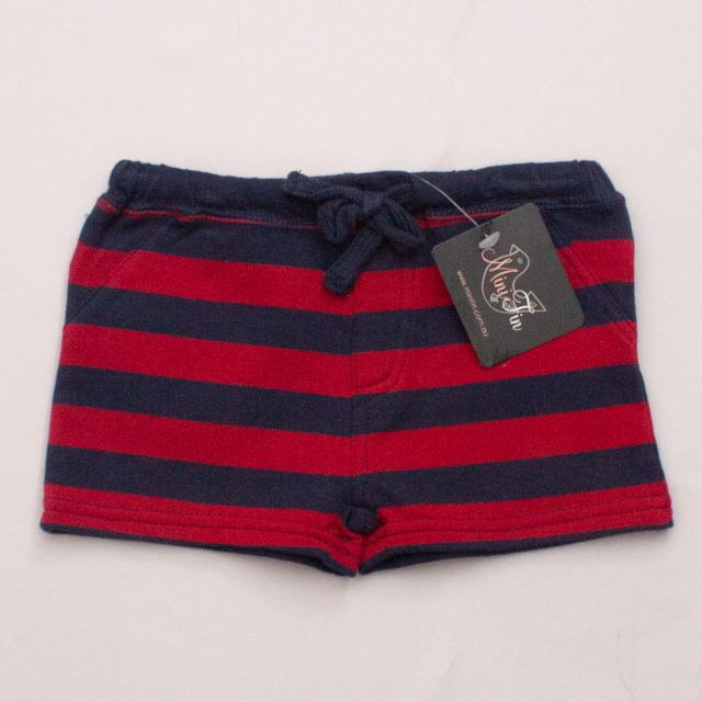 "Mini Fin Striped Shorts ""Brand New"""